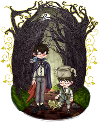 Through The Unknown . Over The Garden Wall by lonares