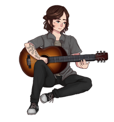 Ellie from the last of us 2 commission by Amphyampp
