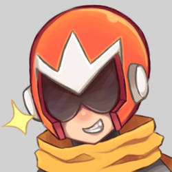 Protoman profile picture commission by Amphyampp