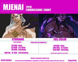 2019 Commission Chart by M-Jenai
