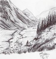 Ink Landscape by Alleyana