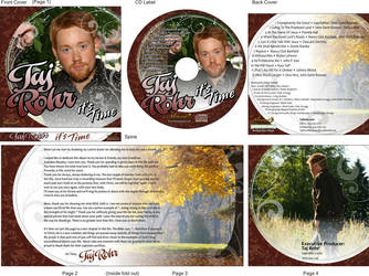 Taj Rohr New CD design by BryanHardbarger
