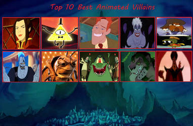 My Top 10 Best Animated Villains by yodajax10