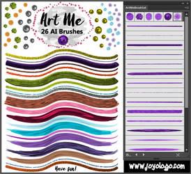 Art Me Brushes for Adobe Illustrator by joyologo