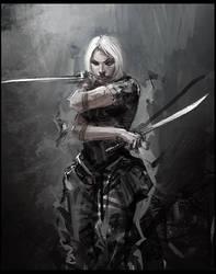 twin blade by liuyangart