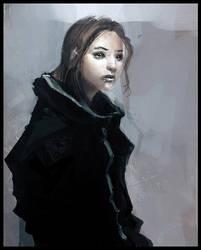 girl by liuyangart