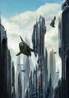 city in the sky by liuyangart