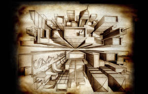 one point perspective by illustraitor666
