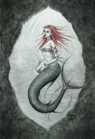 Cave Mermaid by dark777fairy