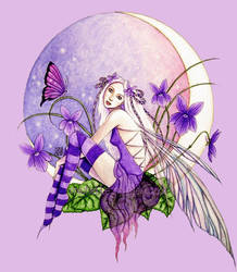 Sweet Violet Moon by dark777fairy