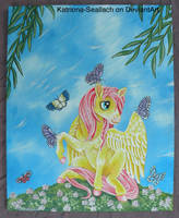 Butterfly Pegasus Painting by Katriona-Seallach
