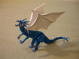 Little Blue Dragon by origami-artist-galen