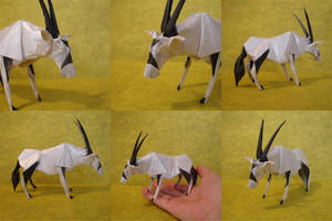 Gemsbok-Trollip by origami-artist-galen