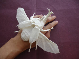 Samurai Helmet Beetle v2 by origami-artist-galen