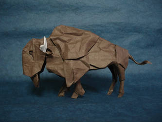 American Bison by origami-artist-galen