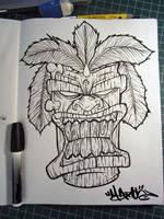 Tiki Sketch by MFMugen