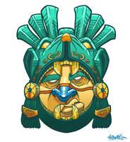 Mayan Warrior Mask by MFMugen