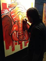 Live painting @ Skate Naked by MFMugen