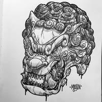 Foo dog doodle by MFMugen