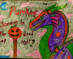 Happy Halloween from ocelot  by Sabertoothfoxy