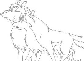 Wolf Base 9 by FeralHeartsFan