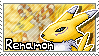 Renamon Stamp 2 by Thunderbirmon