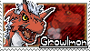 Growlmon Stamp by Thunderbirmon