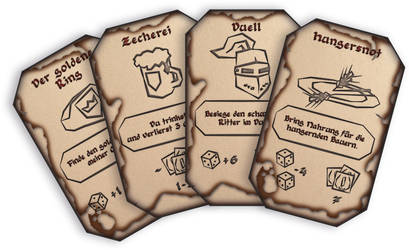 Cards of the Chaffer board game by Be-Liebig