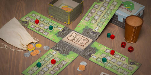 Finished Prototype Of The Chaffer Board Game by Be-Liebig