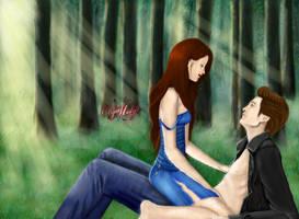 Bella+Edward. After hunting. by OlyaMolya