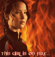 Katniss Everdeen,the girl on fire. by The-All-Blue