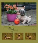 jointed realistic Pug plush by Samurai-Akita