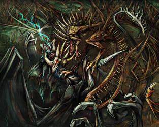 Plague vs. Lightning by Crowbawt