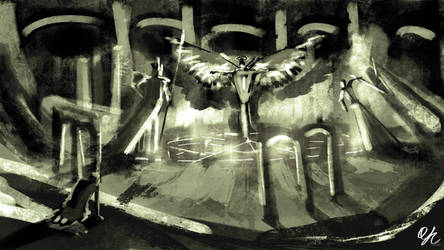 Spitpainting | Day 10 - The Trinity by qinyichow