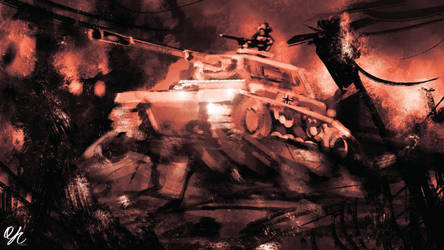 Spitpainting | Day 11 - Panzer by qinyichow