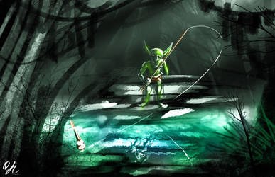 Spitpainting | Day 15 - Swamp Goblin by qinyichow