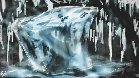 Spitpainting | Day 22 - Frozen in Ice by qinyichow