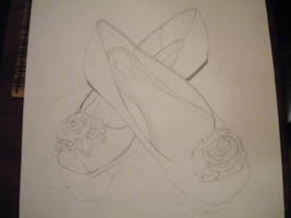 Rose -line art- by xMezMezx