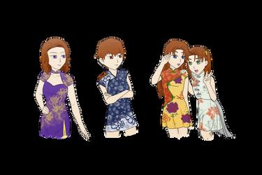 The Li Sisters by xMezMezx