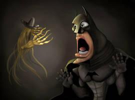Batman and scarecow by hereisanoop