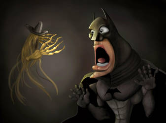 Batman and scarecow by hereisanoop