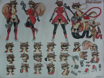 Katsumi Shimura ref sheet by Proplexus