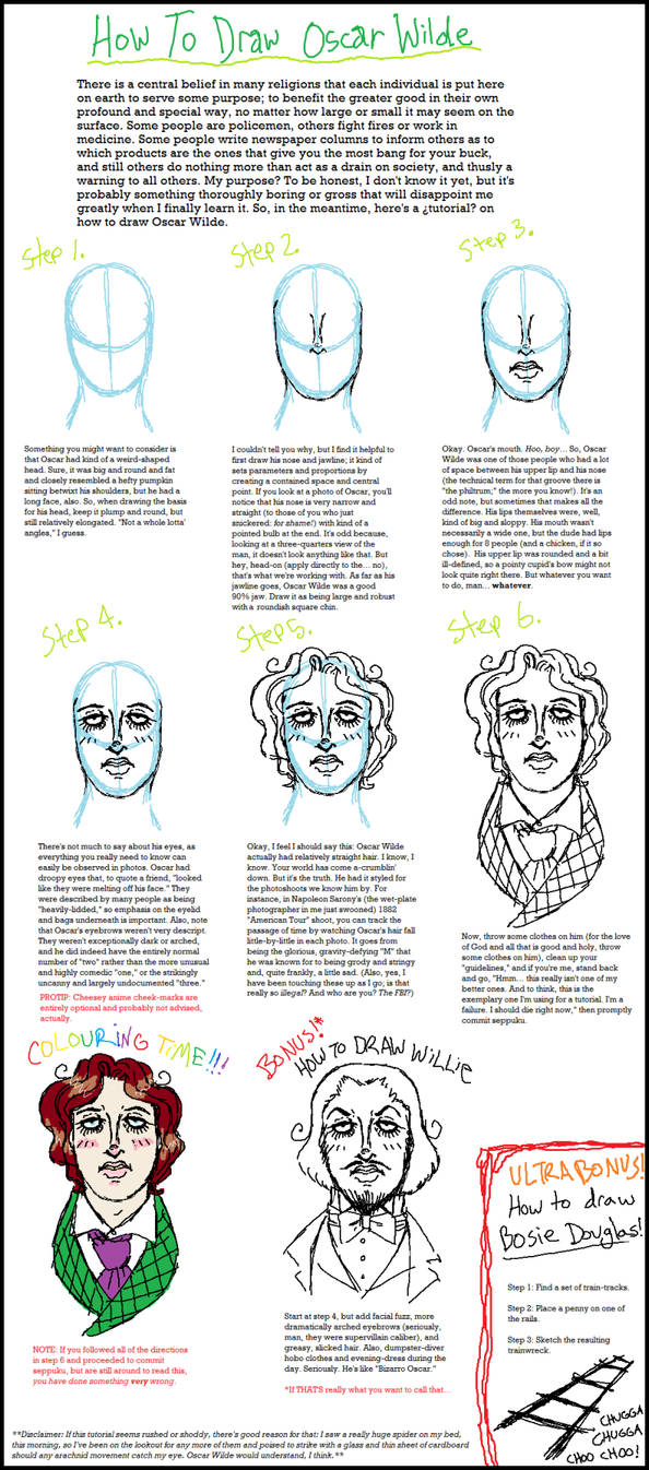 How To Draw Oscar Wilde By Ghostloaf On Deviantart