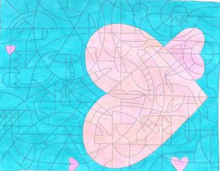 Hearts in the sea by JadeFoxScarletIbis