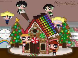 Sweet Gingerbread House Treat by RowdyruffPowerpuff45