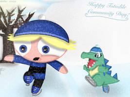 ( Crossover ) Happy January Community Day! by RowdyruffPowerpuff45