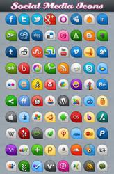 Beautifull Social Media Icons by Downgraf