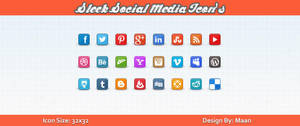 Free Sleek Social Media Icons by Downgraf