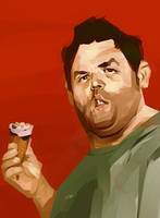Nick Frost by Grobi-Grafik