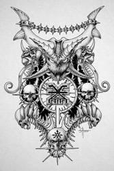 Khorne dotwork art by ZmeyMH